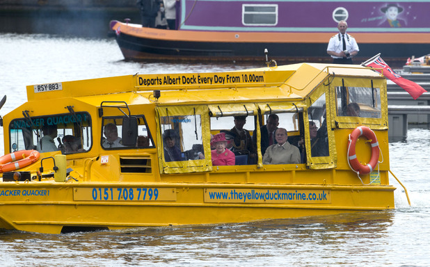 The Queen, Prince Phillip, Duck Tours