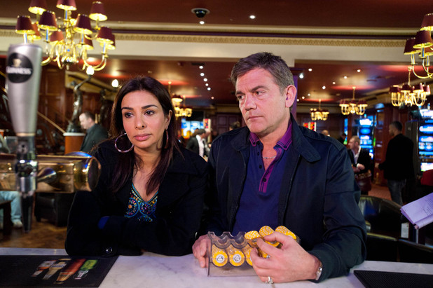 At the casino Karl is on a winning streak, Sunita is desperate to convince him to leave and quit while ahead