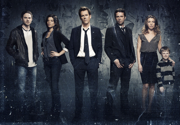 The Following&#39;s cast: Shawn Ashmore, Jeannane Goossen, Kevin Bacon, James Purefoy, Natalie Zea and Kyle Cattlet.