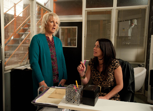 Carla calls Eileen to her office and sacks her for going missing the previous day, causing them to fail in meeting their deadline