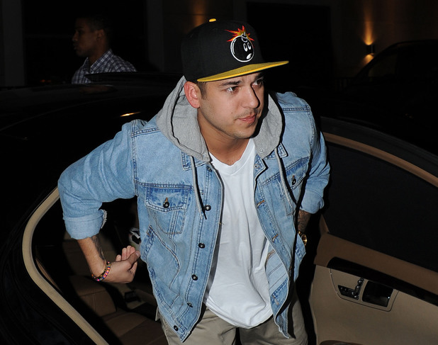 Rob Kardashian arrives at Whiskey Mist. Rumored girlfriend Rita Ora arrived in a separate car possibly to avoid being photographed with Kardashian London