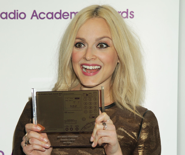 Fearne Cotton with her Sony Radio Award. May 14, 2012