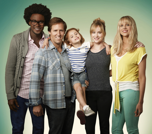 Ben & Kate cast - L-R: Echo Kellum, Nat Faxon, Maggie Jones, Dakota Johnson, Lucy Punch.