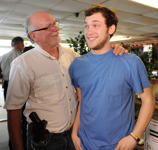 Phillip Phillips and his father Don Phiilips