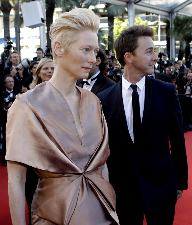 Tilda Swinton and Edward Norton