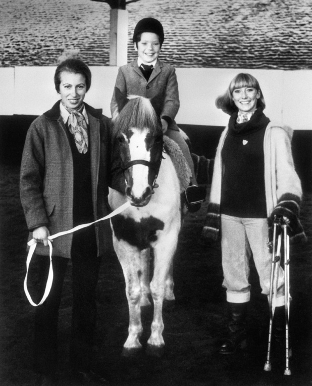 Lesley Judd and Princess Anne