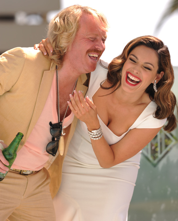 Keith Lemon and Kelly Brook.