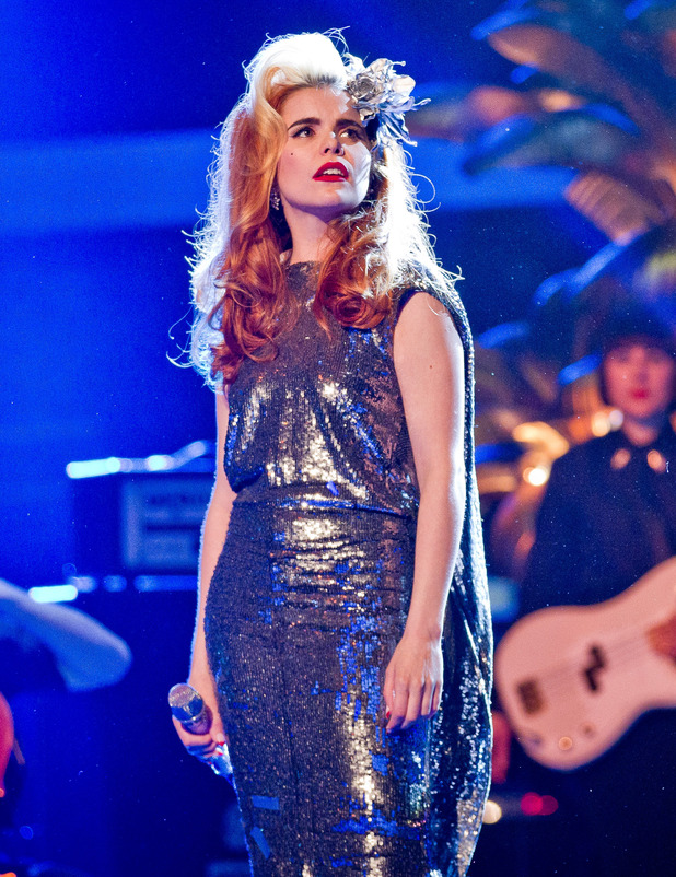 Guest mentor Paloma Faith performs.