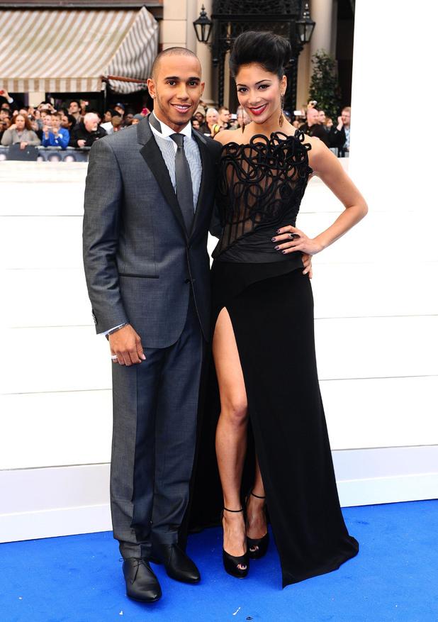 Lewis Hamilton and Nicole Scherzinger