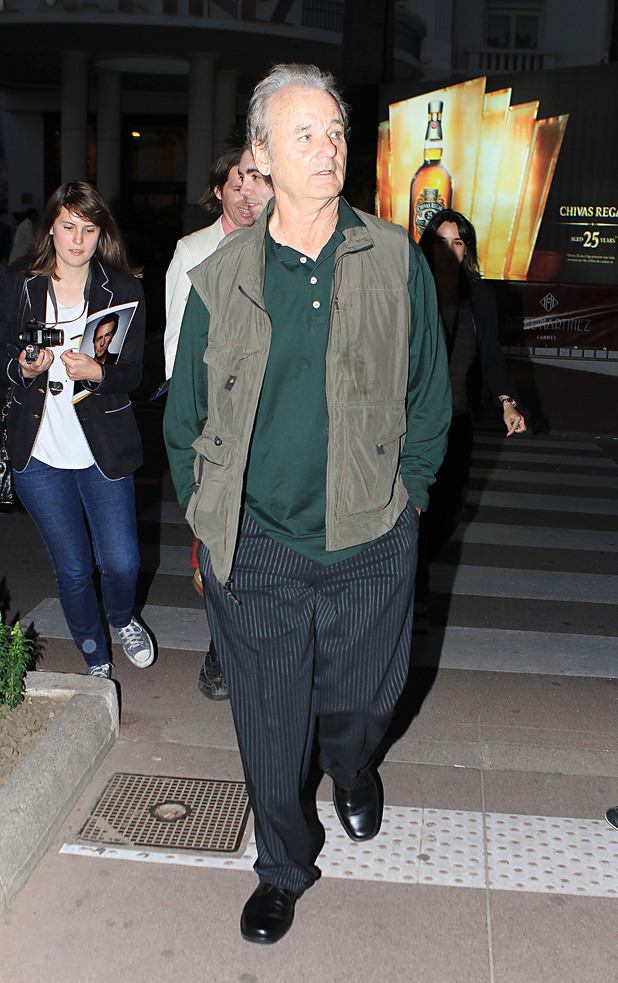 Bill Murray out and about for the Cannes Film Festival. Nice, France