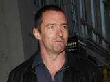 Hugh Jackman arrives for dinner with friends at Claridge's restaurant in London London