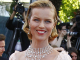 Model Eva Herzigova arrives for the opening ceremony and screening of 'Moonrise Kingdom' at the 65th international film festival, in Cannes