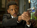Will Smith's science fiction blockbuster beats The Dictator to the UK top spot.