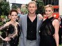 Kristen Stewart is joined by Charlize Theron and Chris Hemsworth at the world premiere.