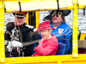 The royals board the unusual tourist attraction in Liverpool.