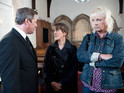 Eileen sparks tension by attending Lesley's send-off in Corrie tonight.