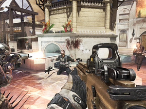 A screenshot of the 'Oasis' map for 'Modern Warfare 3' Content Collection 2