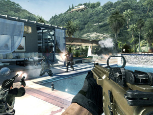A screenshot of the Face Off 'Getaway' map for 'Modern Warfare 3' Content Collection 2