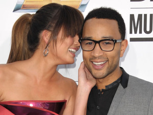 John Legend and Chrissy Teigen arriving at the 2012 Billboard Awards at the MGM Grand, Las Vegas