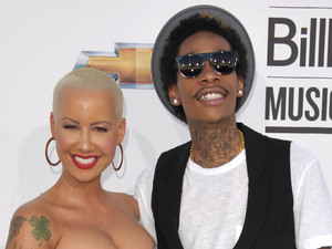Amber Rose and Wiz Khalifa arriving at the 2012 Billboard Awards at the MGM Grand, Las Vegas