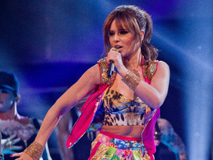 Cheryl Cole performs her new single.