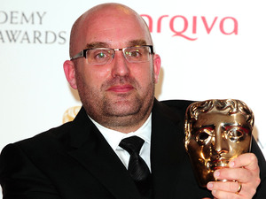 Shane Meadows, writer and director of This Is England '88 with the best Mini series award for This Is England '88 at the Arqiva British Academy Television Awards 2012 at the Royal Festival Hall, London.