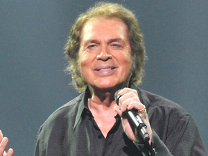 UK entry Engelbert Humperdinck rehearsing ahead of the Eurovision song contest in Baku, Azerbaijan