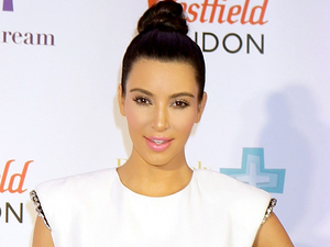 Kim Kardashian visits Westfield shopping centre in West London to promote her QuickTrim Essentials Kit which promotes weight loss