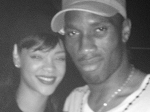 Rihanna posted this image on Twitter with the caption 'THEE DIDIER DROGBA #thereisaGod'
