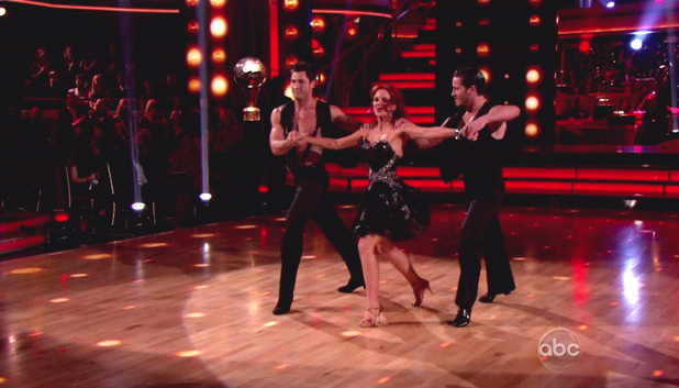 Val Chmerkovskiy, Melissa Gilbert and Maksim Chmerkovskiy