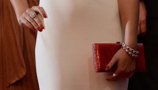 Cheryl Cole's jewelry and handbag