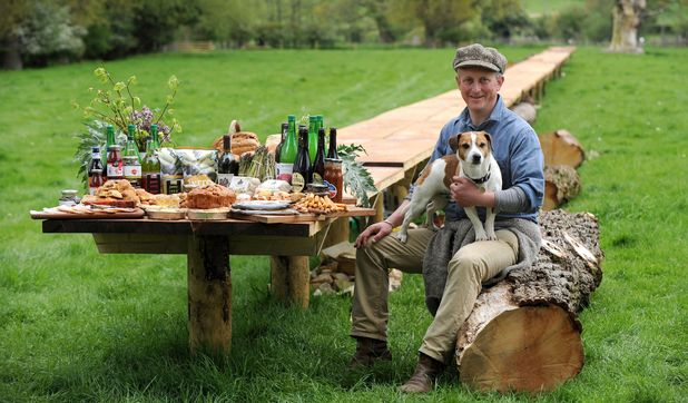 Jason Gathorne-Hardy builds 'longest picnic table in the world', Suffolk