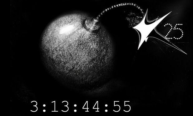 Kylie Minogue website countdown clock - screenshot