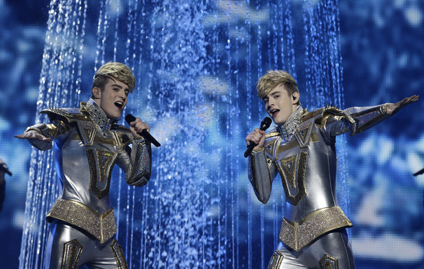 Eurovision Song Contest 2012: Ireland&#39;s Jedward.