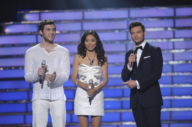 &#39;&#39;American Idol&#39; finalists Phillip Phillips and Jessica Sanchez with Ryan Seacrest