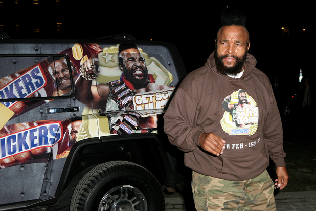 Mr T with the Snickers truck