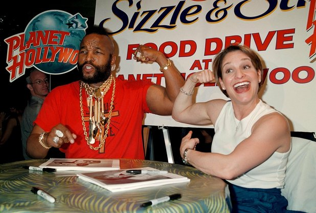 Mr T and Mary Lou Retton
