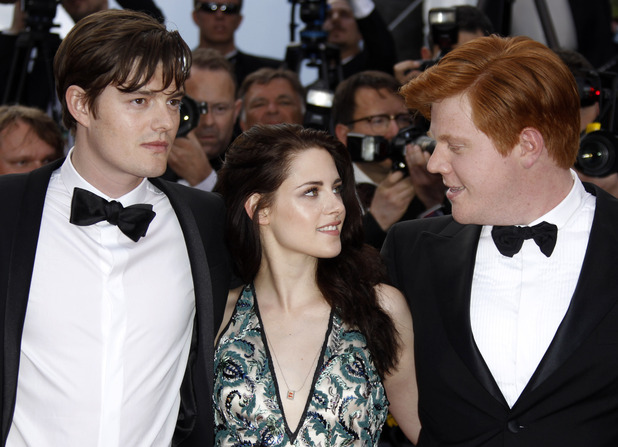 Sam Riley, Kristen Stewart and Danny Morgan arrive for the screening of On the Road.