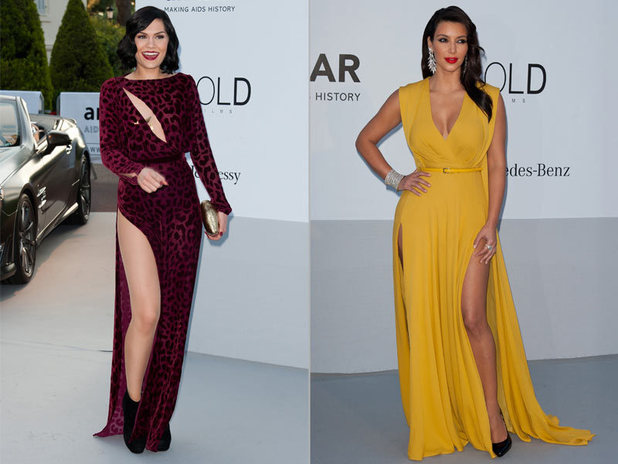 Jessie J and Kim Kardashian at the amfAR Cinema Against Aids 2012 Gala