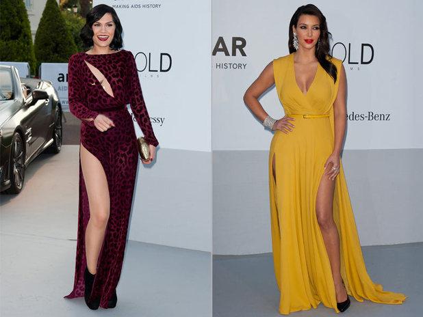 Jessie J and Kim Kardashian at the amfAR Cinema Against Aids 2012 Gala
