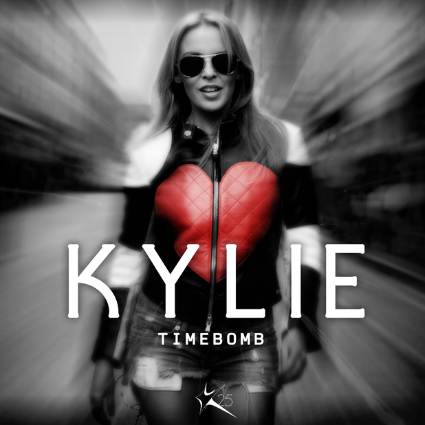 Kylie Minogue 'Timebomb' single artwork.