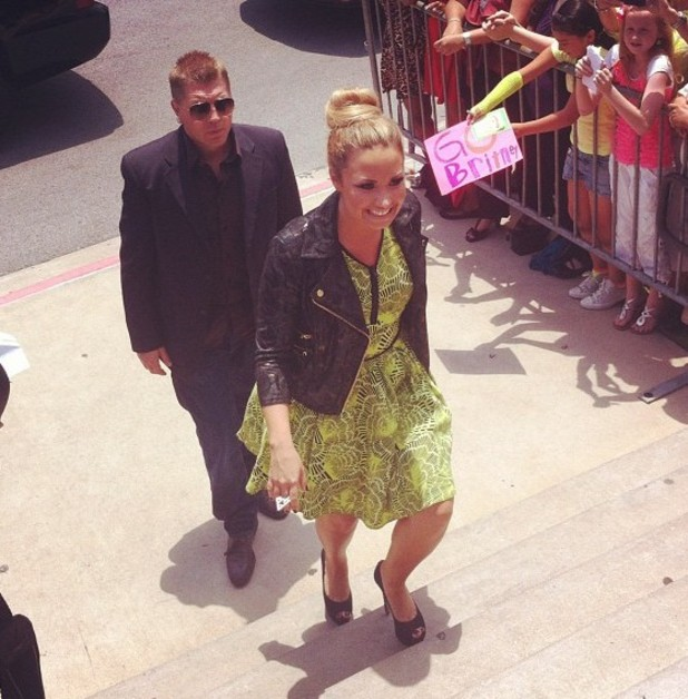 The X Factor USA: Demi Lovato arrives
