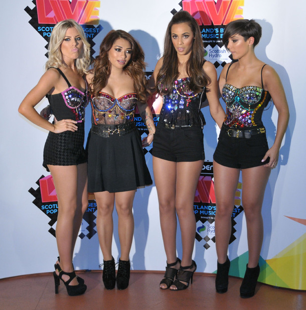 Mollie King, Vanessa White, Rochelle Wiseman and Frankie Sandford