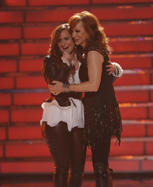 Skylar Laine with Reba McEntire