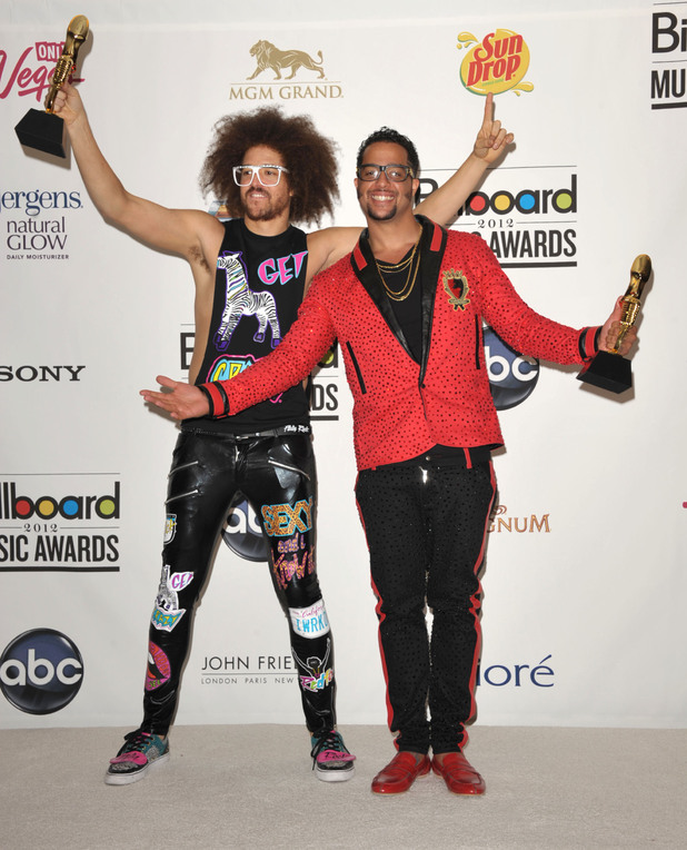 Redfoo, left, and SkyBlu of LMFAO