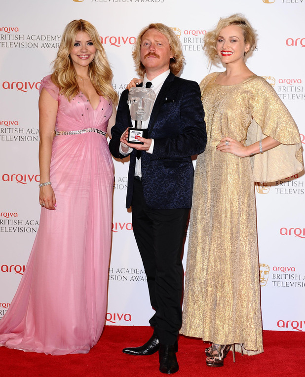 Holly Willgby, Leigh Francis and Fearne Cotton