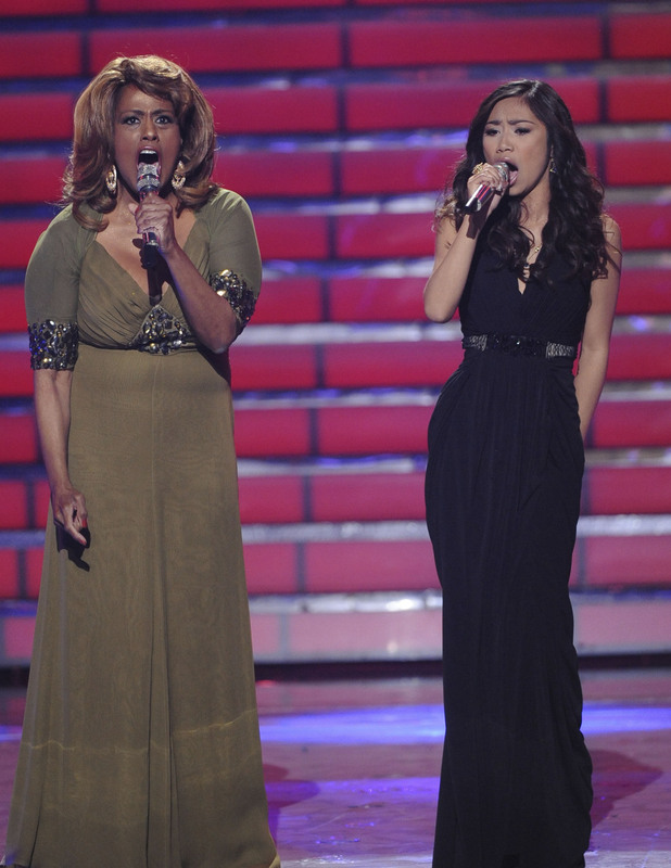 Jessica Sanchez duets with Jennifer Holliday on 'And I Am Telling You'.