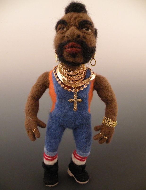 Mr T felt doll