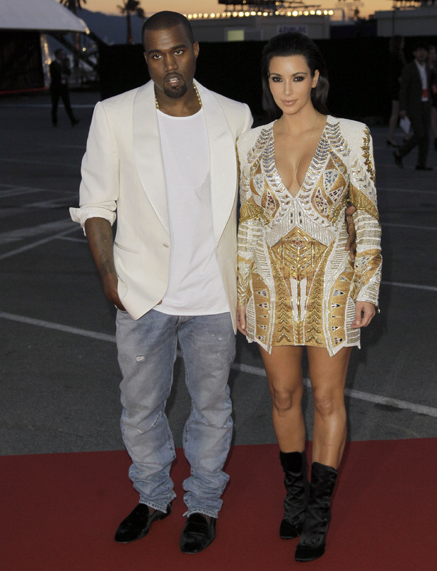 Kanye West and Kim Kardashian arrive for the screening of Cruel Summer at the 65th international Cannes Film Festival