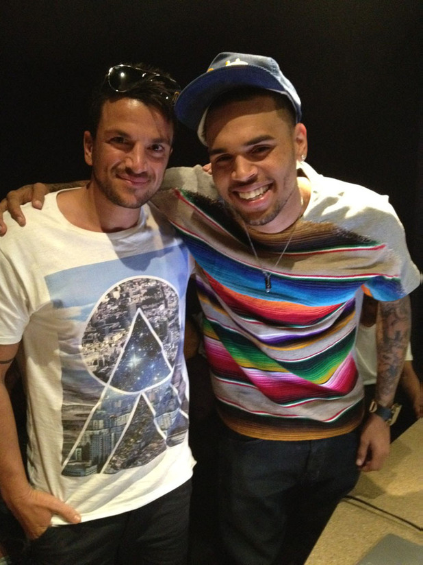Peter Andre and Chris Brown